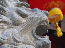 Leão chinês foto de stock
