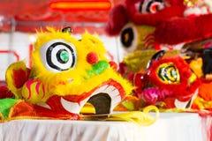 Leão chinês colorido tradicional Fotografia de Stock Royalty Free