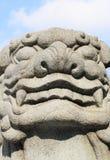 Leão chinês do guardião de Wong Tai Sin Temple Imagem de Stock