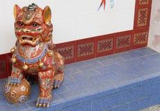 Leão chinês na casa de Joss Foto de Stock Royalty Free