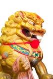 Leão chinês no templo chinês em Phitsanulok, Tailândia Imagens de Stock Royalty Free