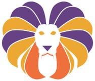 Leão colorido estilizado isoalted ilustração royalty free