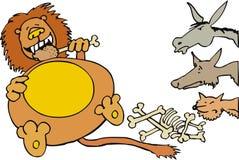 Leão com animais Foto de Stock Royalty Free