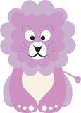 Leão cor-de-rosa do bebê ilustração do vetor