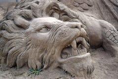 Leão da areia Imagens de Stock Royalty Free