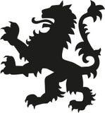 Leão da arma da heráldica ilustração stock