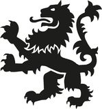 Leão da arma da heráldica com detalhes ilustração royalty free