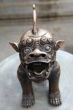 Leão de bronze Fotos de Stock