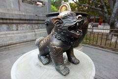 Leão de bronze chinês Imagem de Stock