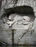 Leão de Lucerne, Switzerland Imagem de Stock