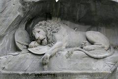 Leão de Luzern Fotografia de Stock