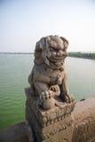 Leão de pedra imagens de stock royalty free