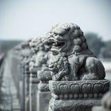 Leão de pedra vívido fotografia de stock royalty free