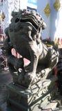 Leão de pedra velho fotos de stock royalty free