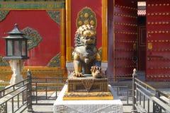 Leão de proteção em China Fotografia de Stock Royalty Free