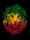 Leão 3 de Rasta Fotografia de Stock Royalty Free