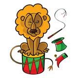 Leão do circo Fotos de Stock