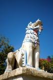Leão do estuque no templo Imagem de Stock