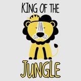 Leão do rei Of The Jungle ilustração do vetor
