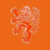 Leão do vetor de Países Baixos Foto de Stock