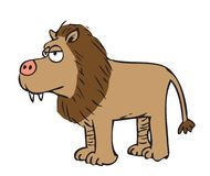 Leão dos desenhos animados ilustração do vetor