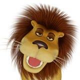 leão dos desenhos animados 3d Imagem de Stock