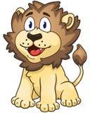 Leão dos desenhos animados Ilustração do vetor com inclinações simples Foto de Stock
