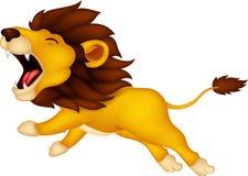 Leão dos desenhos animados rujir Imagens de Stock Royalty Free