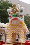 Leão, Dragon Dance em Hong Kong, China imagens de stock royalty free