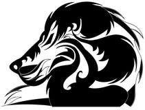 Leão estilizado ilustração do vetor