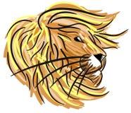 Leão estilizado isolado ilustração royalty free