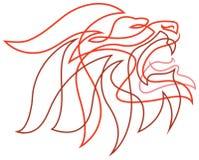 Leão furioso Fotos de Stock Royalty Free