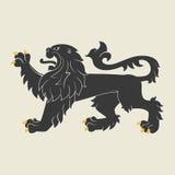 Leão heráldico ilustração stock
