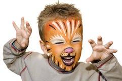 Leão irritado Imagens de Stock