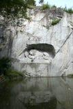 Leão-memorial Foto de Stock Royalty Free