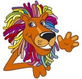 Leão Multicolor ilustração do vetor