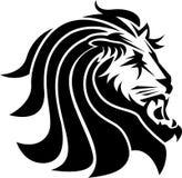 Leão na linha arte ilustração royalty free