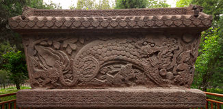Leão na parede do ferro Fotografia de Stock