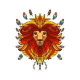 Leão no estilo étnico Imagens de Stock