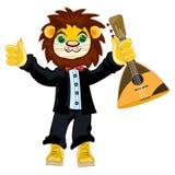 Leão no terno ilustração stock