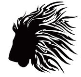 Leão tribal preto ilustração royalty free