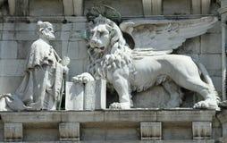 Leão voado - marco de Veneza Fotos de Stock Royalty Free
