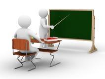 Leçon à l'école. Image 3D d'isolement Photographie stock libre de droits