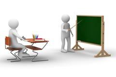 Leçon à l'école. Image 3D d'isolement illustration libre de droits