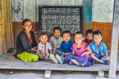 Leçon au Népal Images libres de droits