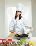 Leçon de cuisine familiale Photographie stock libre de droits