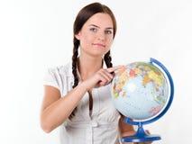 Leçon de géographie Image stock