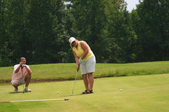 Leçon de golf photographie stock