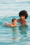 Leçon de natation Images libres de droits