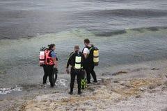 Leçon de plongée à l'air Photos libres de droits